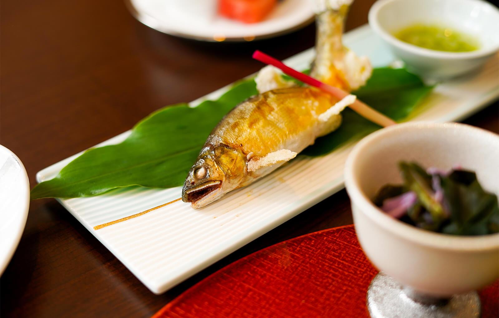 熊本の綺麗な川で育った鮎-郷土料理|お料理紹介